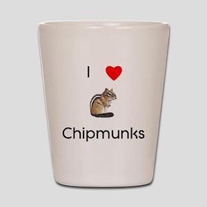 I love chipmunks Shot Glass
