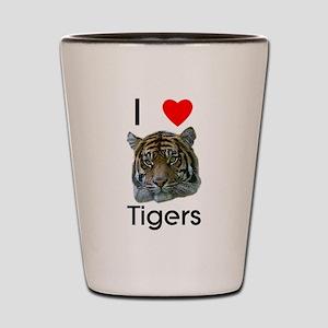 I Love Tigers Shot Glass