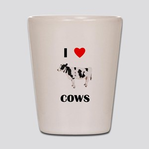 I love cows Shot Glass