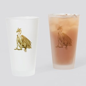Gold Sitting Dragon Drinking Glass