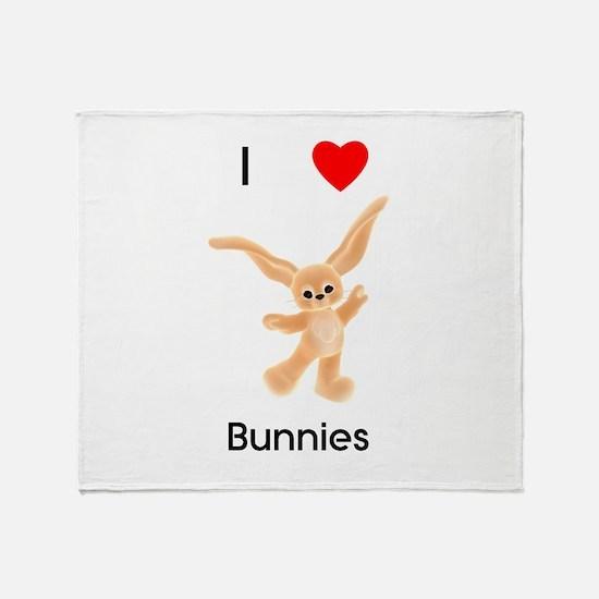 I love bunnies Throw Blanket
