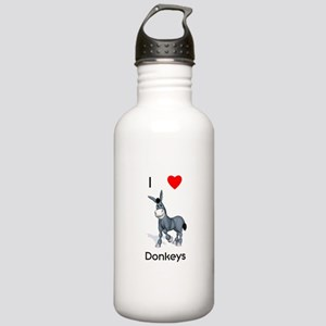 I love donkeys Stainless Water Bottle 1.0L