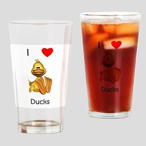 I love ducks (2) Drinking Glass