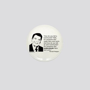 Reagan: How do you tell a Communist? Mini Button