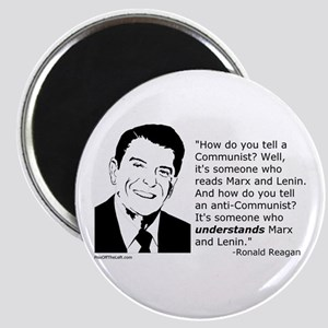 Reagan: How do you tell a Communist? Magnet
