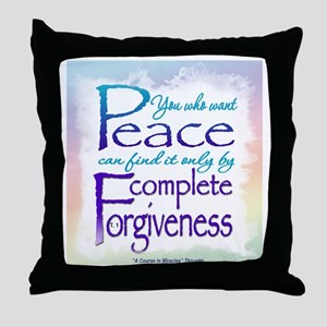 ACIM-You Who Want Peace Throw Pillow