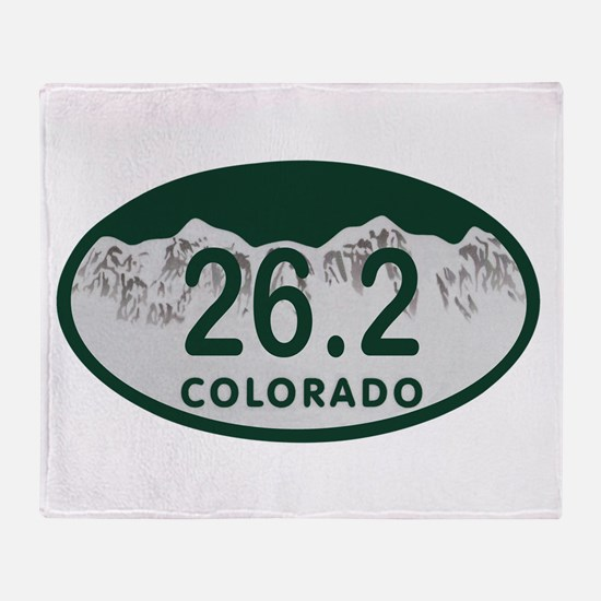 26.2 Colo License Plate Throw Blanket