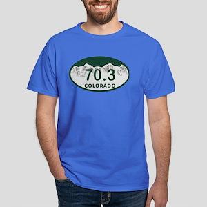 70.3 Colo License Plate Dark T-Shirt