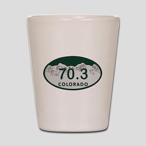70.3 Colo License Plate Shot Glass