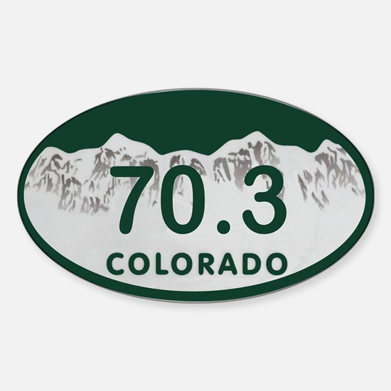 70.3 Colo License Plate Sticker (Oval)