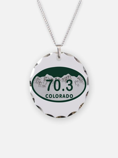 70.3 Colo License Plate Necklace