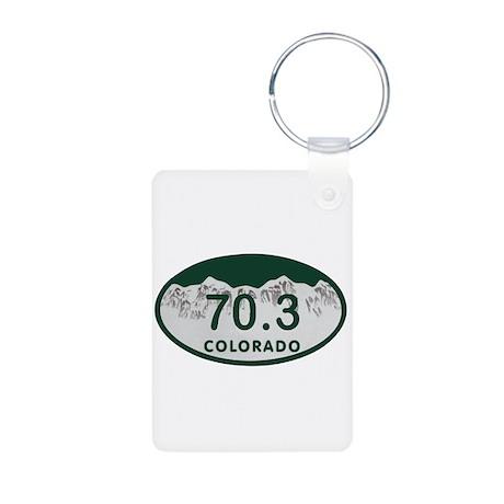 70.3 Colo License Plate Aluminum Photo Keychain