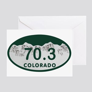 70.3 Colo License Plate Greeting Card