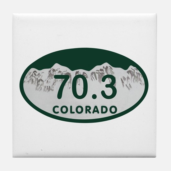 70.3 Colo License Plate Tile Coaster
