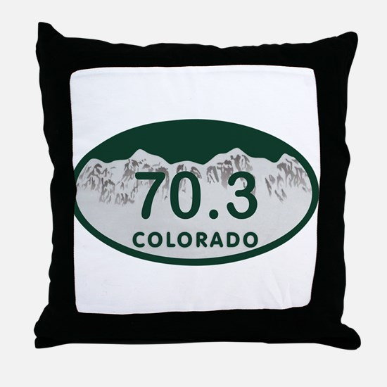 70.3 Colo License Plate Throw Pillow