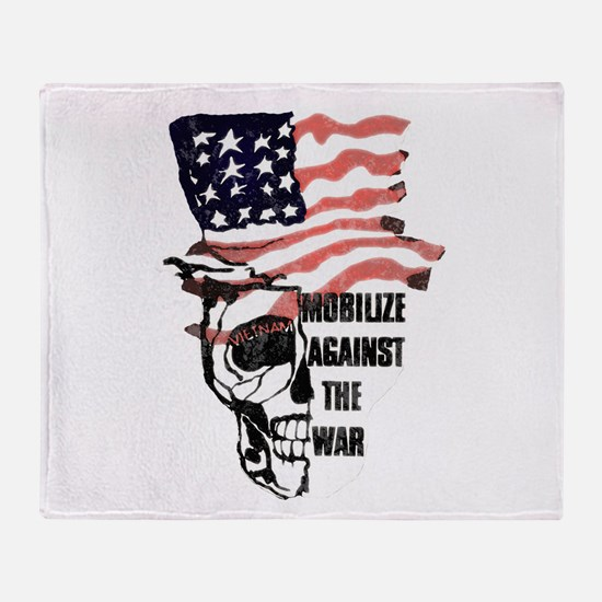 Vintage Anti Vietnam Throw Blanket