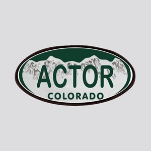 Actor Colo License Plate Patches