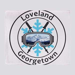 Loveland Ski Area - Georgetown - C Throw Blanket
