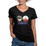 PD Project Women's V-Neck Dark T-Shirt