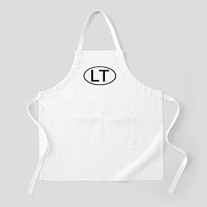 LT - Initial Oval BBQ Apron