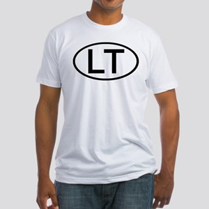 LT - Initial Oval Fitted T-Shirt