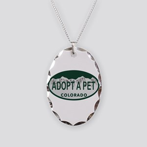 Adopt a Pet Colo License Plate Necklace Oval Charm