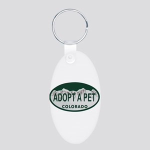 Adopt a Pet Colo License Plate Aluminum Oval Keych