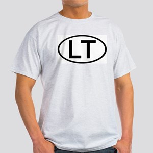 LT - Initial Oval Ash Grey T-Shirt