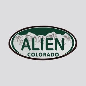 Alien Colo License Plate Patches