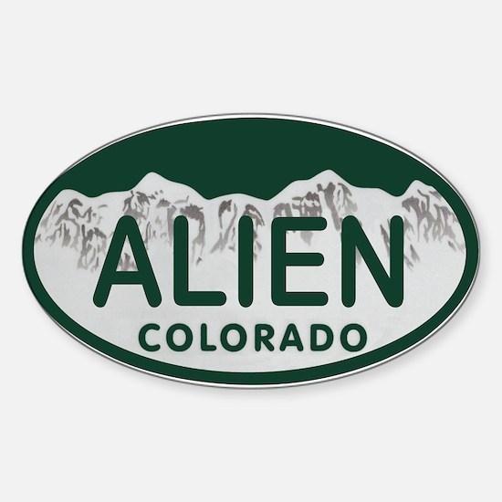Alien Colo License Plate Sticker (Oval)