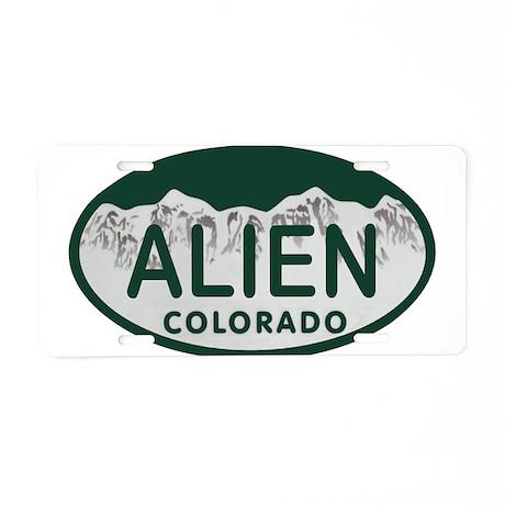 Alien Colo License Plate Aluminum License Plate