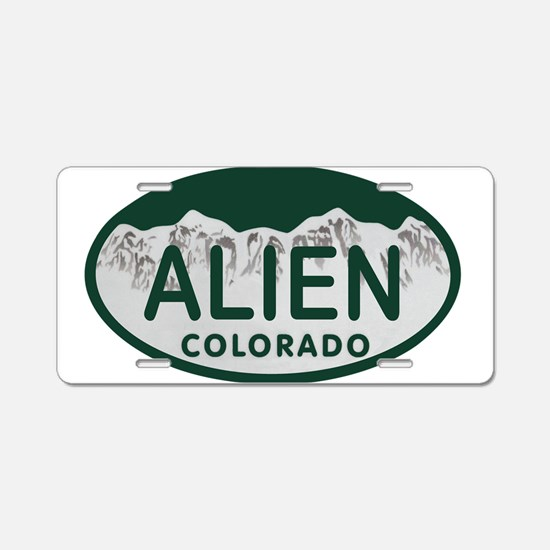 Alien Colo License Plate Aluminum License Plate
