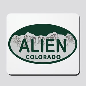 Alien Colo License Plate Mousepad