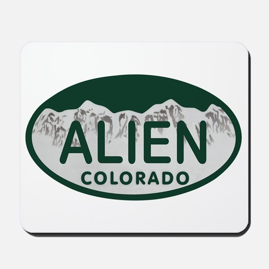 Alien Colo License Plate Mousepad
