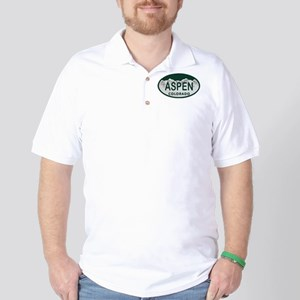 Aspen Colo License Plate Golf Shirt