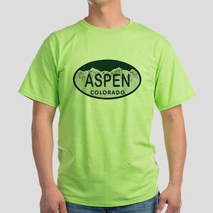 Aspen Colo License Plate Green T-Shirt