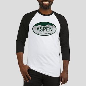 Aspen Colo License Plate Baseball Jersey