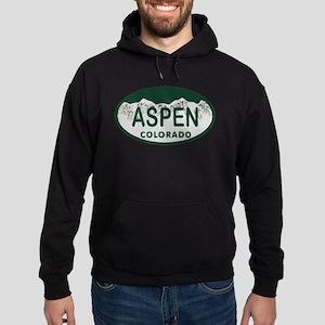 Aspen Colo License Plate Hoodie (dark)