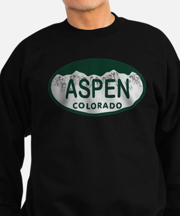 Aspen Colo License Plate Sweatshirt (dark)