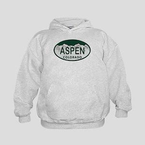 Aspen Colo License Plate Kids Hoodie