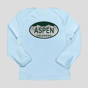 Aspen Colo License Plate Long Sleeve Infant T-Shir