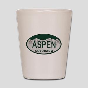 Aspen Colo License Plate Shot Glass
