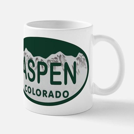 Aspen Colo License Plate Mug
