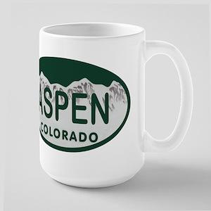 Aspen Colo License Plate Large Mug