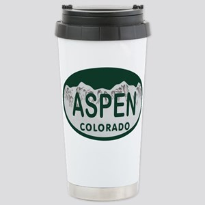 Aspen Colo License Plate Stainless Steel Travel Mu