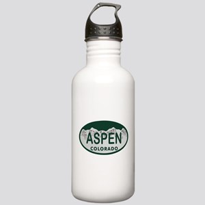 Aspen Colo License Plate Stainless Water Bottle 1.