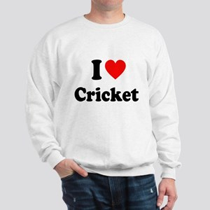 I Heart Cricket Sweatshirt