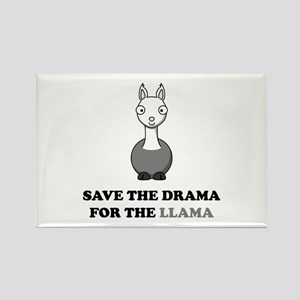 save the drama for the llama Rectangle Magnet