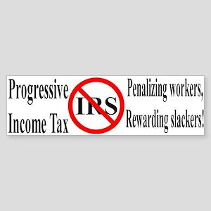 Progressive Tax Bumper Sticker
