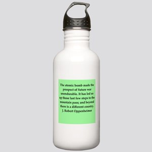 j robert oppenheimer quotes Stainless Water Bottle